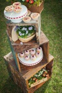 Idéias para casamento rústico chic caixotes