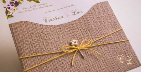 Envelopes para convite de casamento - campo