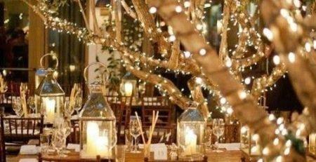 Casamento ao ar livre - iluminação